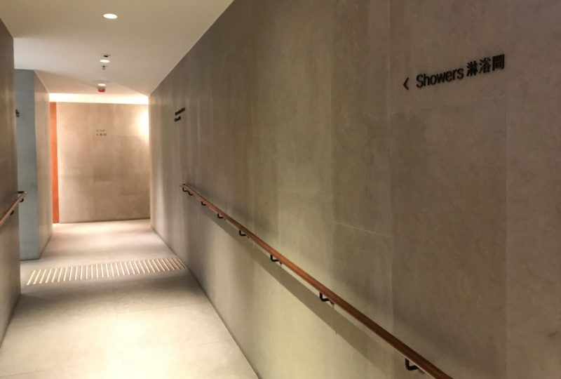 cathay pacific business class hong kong lounge showers